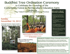 Buddhist Tree Ordination Ceremony: Coming Together to Protect the Community Forest