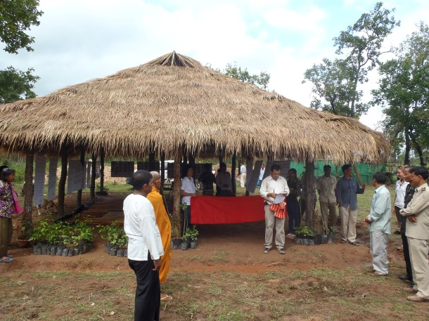 Ribbon cutting for new Permaculture & Sustainable Forestry Training Center
