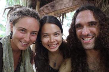Sam, Valerie, & Alex, the Ratanakiri Sacred Seeds Team