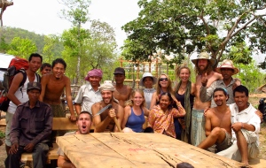 Volunteer group at Permaculture Education Farm